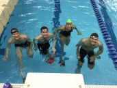 EGRA Masters swim practice, after the diagnosis, before the surgery.