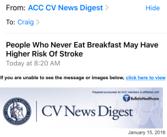 breakfast email