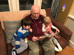 Uncle Jim and his two grandchildren.