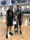 Miles Bridges, Nick Ward, and Connor.