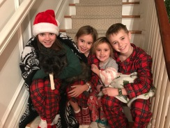 Our kids, Christmas morning.